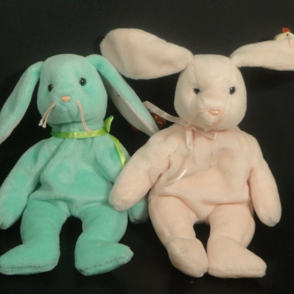 the Pink Easter Bunny Ty Beanie Baby HOPPITY